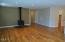 372 Fruitvale Rd, Newport, OR 97365 - Great Room with wood stove