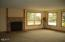 5870 El Mar Ave, Gleneden Beach, OR 97388 - Family Room w/ gas fireplace