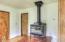 3279 Yachats River Road, Yachats, OR 97498 - Wood stove