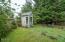 40 Schoolhouse St, Depoe Bay, OR 97341 - Garden Shed in Fenced Backyard