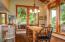 847 Hamer Rd, Siletz, OR 97380 - Dining room looking onto decks & creek