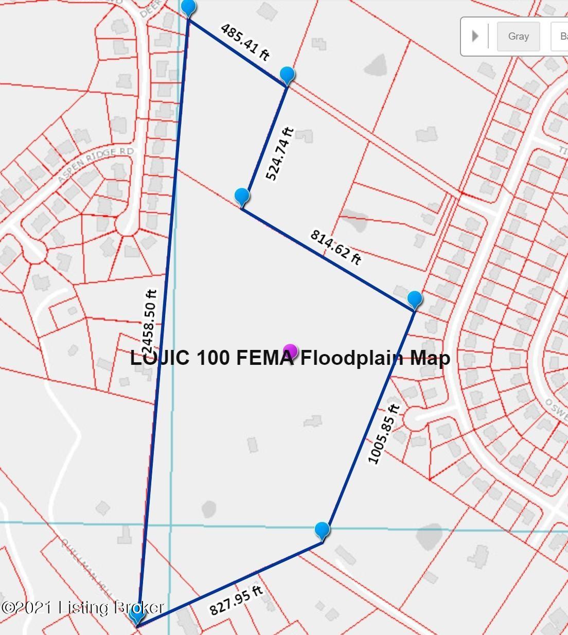 LOJIC Flood Zone Map 7600 St Andrews Ch
