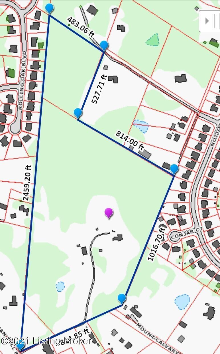 LOJIC Property line map 7600 St Andrews