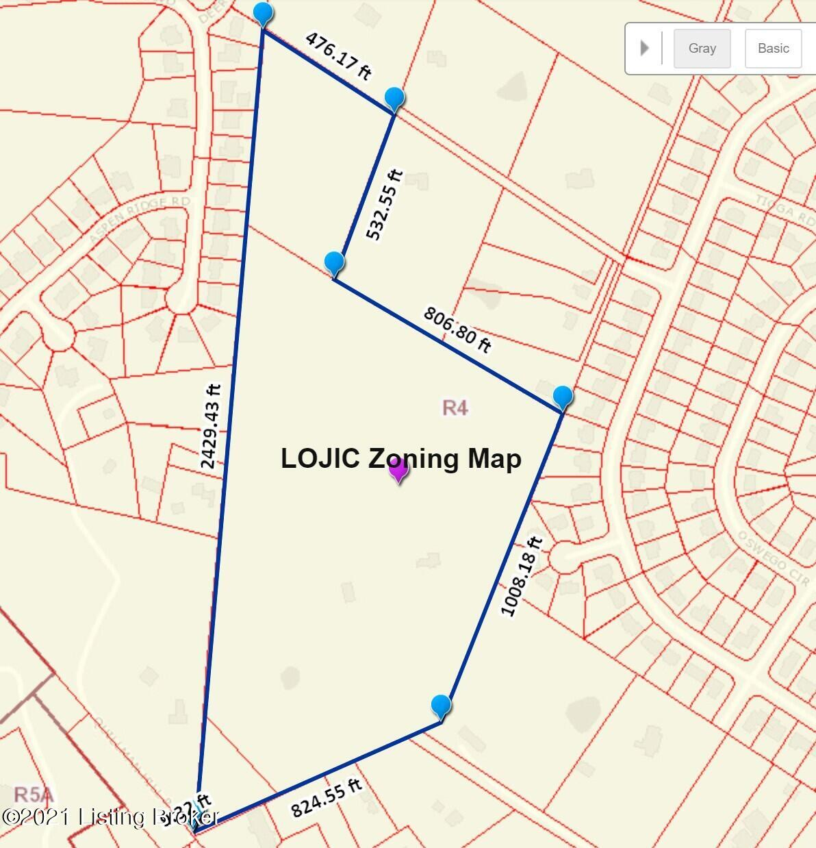 LOJIC Zoning Map 7600 St Andrews Ch 2105