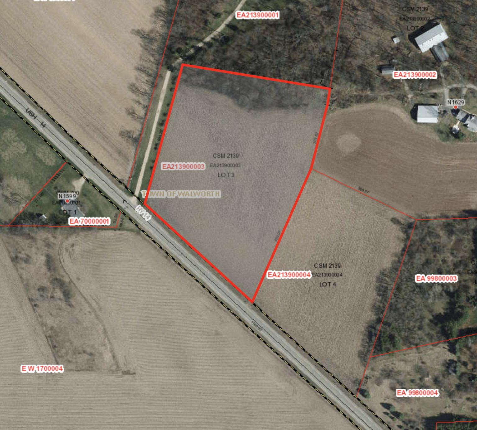 Lt3 & 4 Hwy 14, Walworth, Wisconsin 53184, ,Vacant Land,For Sale,Hwy 14,1639395