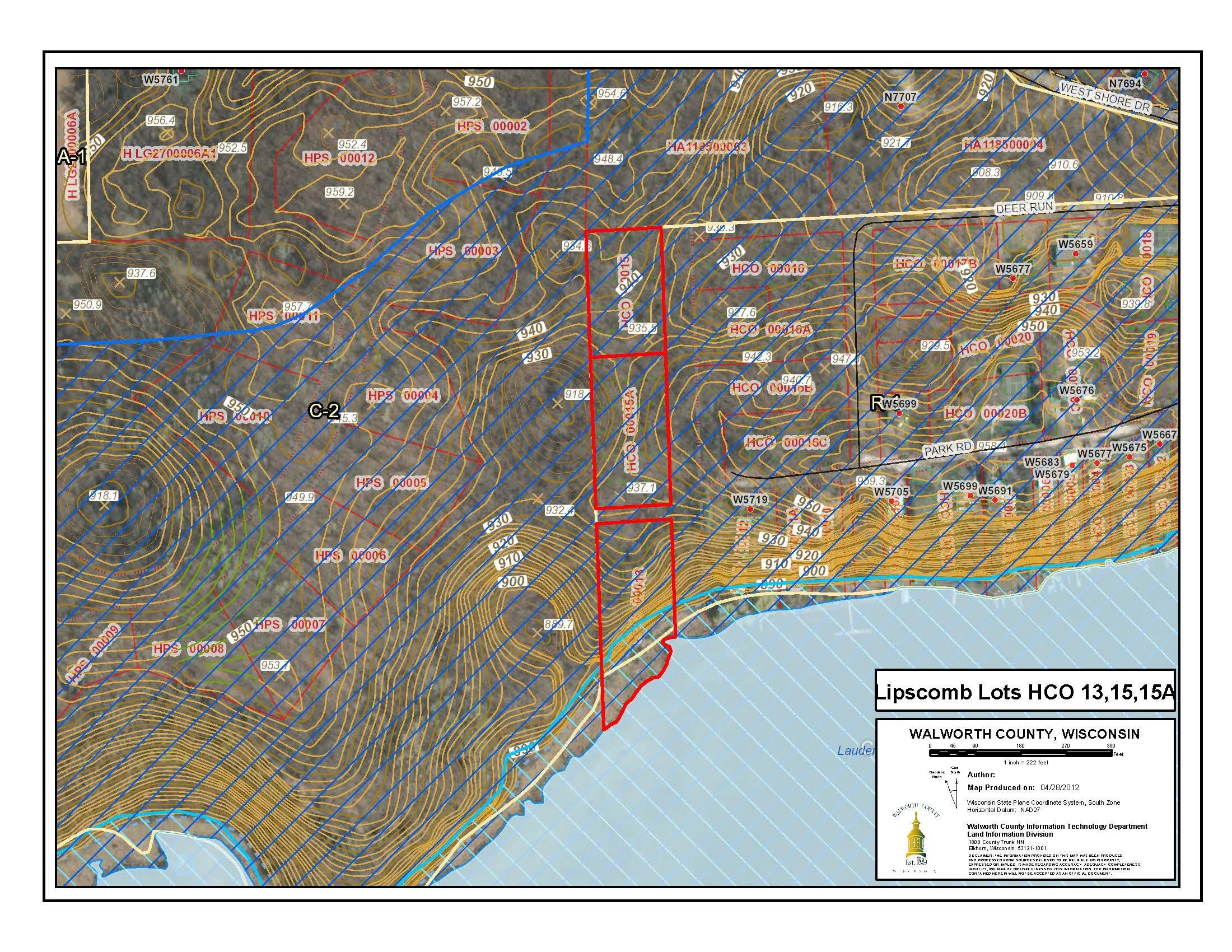 Plat Map HCO 13 15 15A