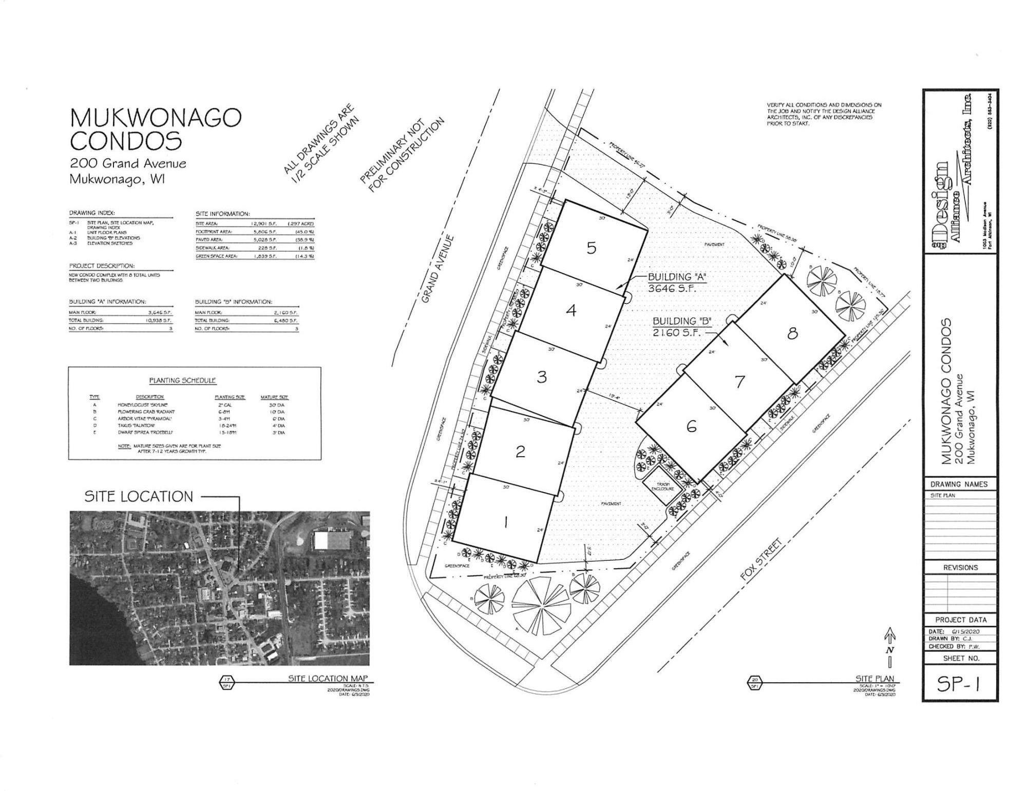 Plat of Condo placement