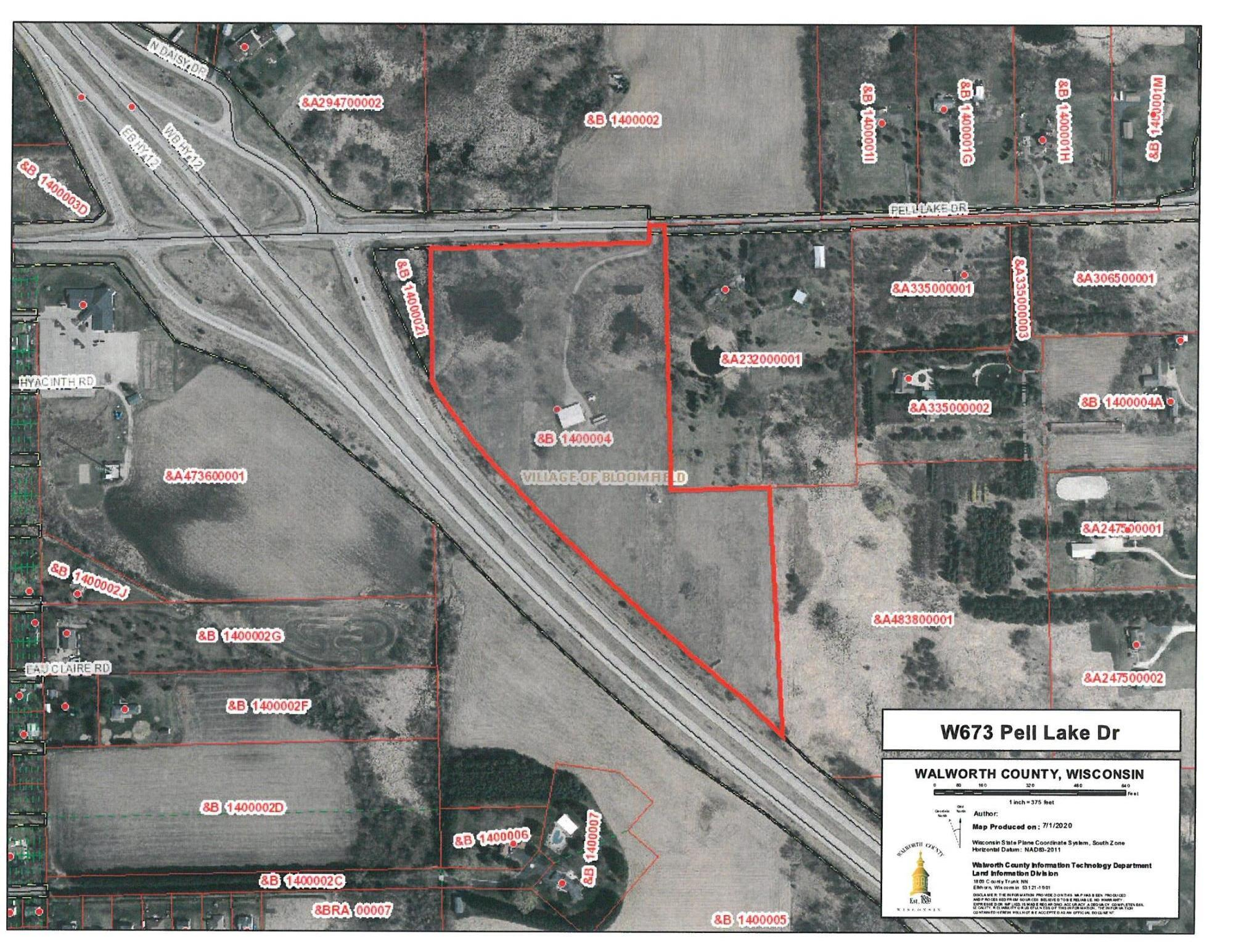 W673 Pell Lake Dr, Bloomfield, Wisconsin 53128, ,Vacant Land,For Sale,Pell Lake Dr,1696795