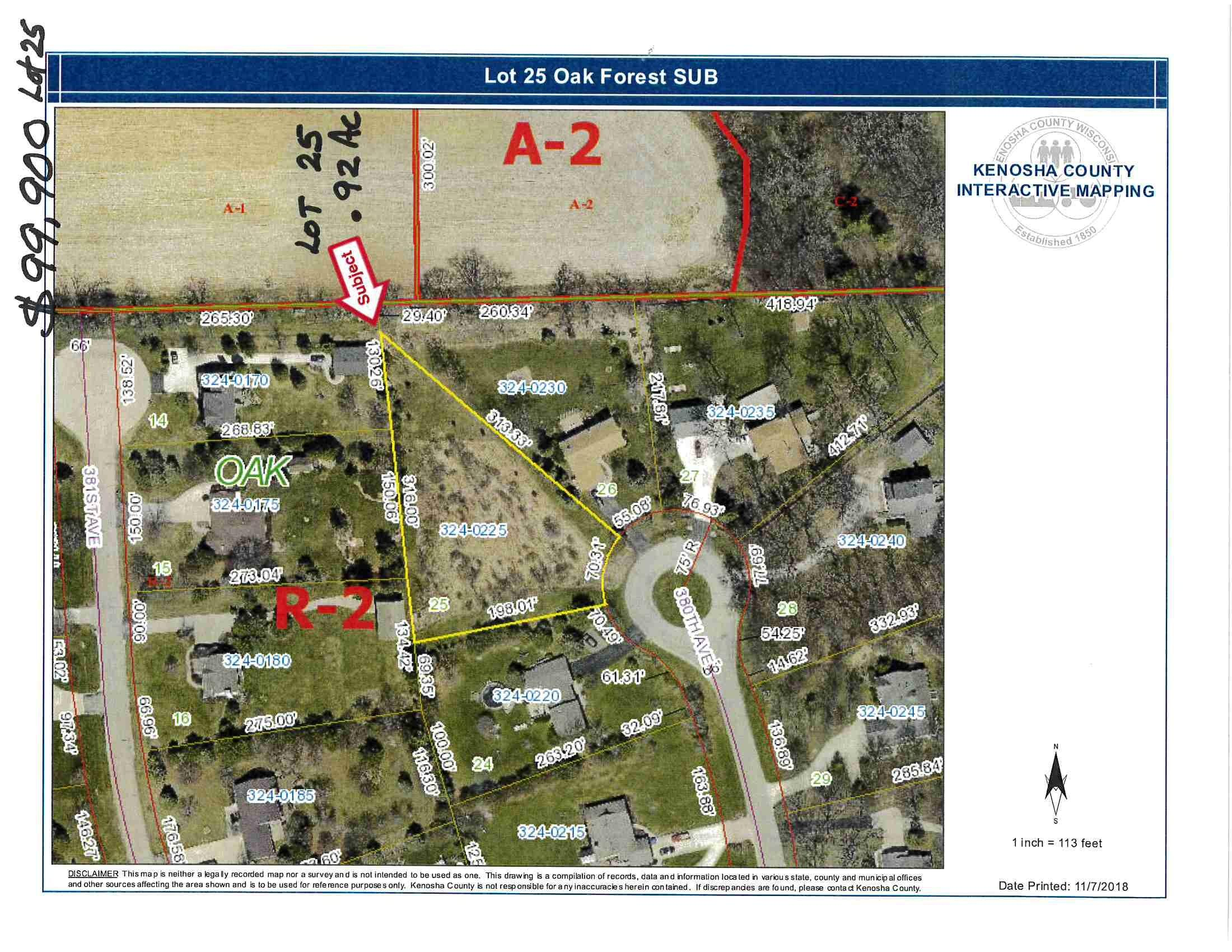 5518 380th Ave, Wheatland, Wisconsin 53105, ,Vacant Land,For Sale,380th Ave,1698065