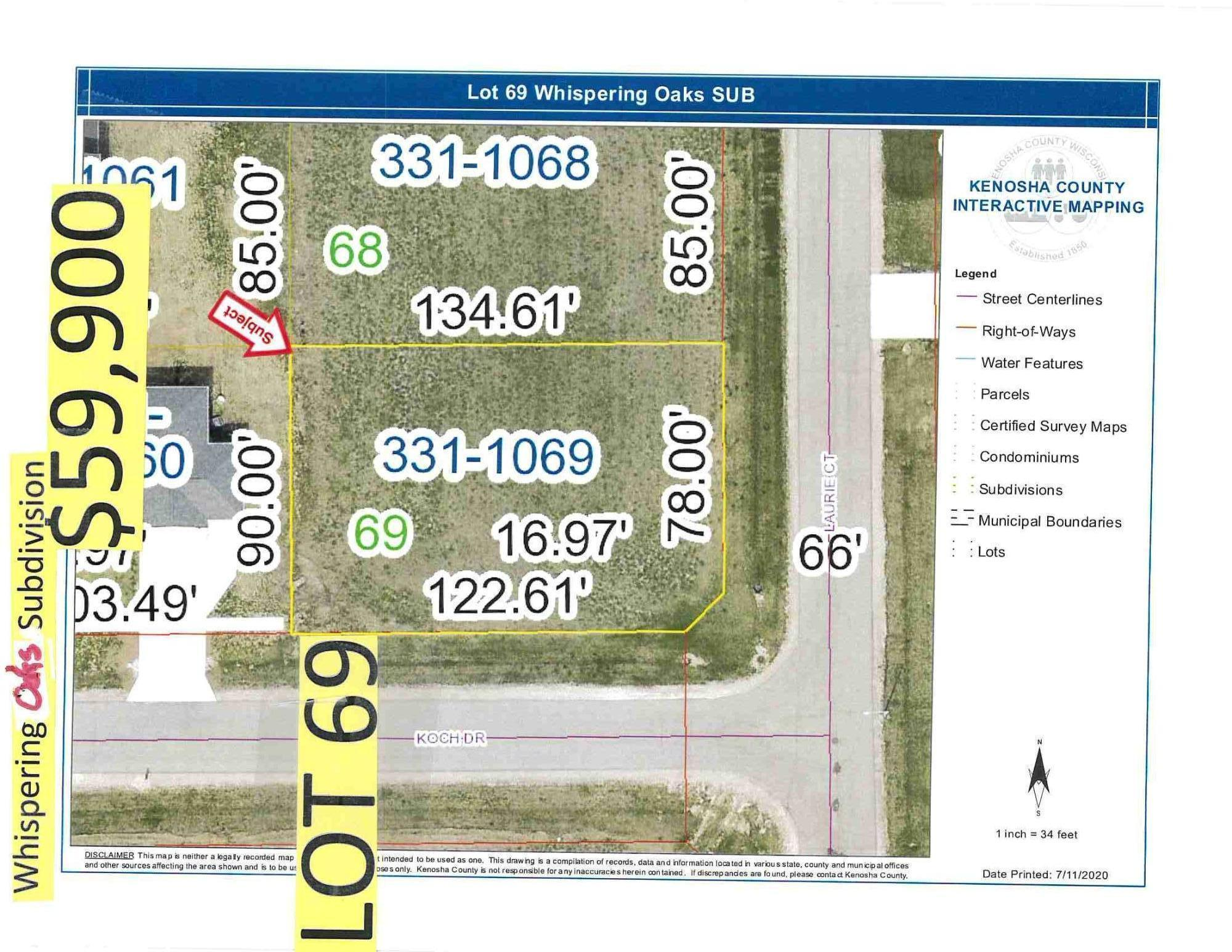 0 Laurie Ct, Twin Lakes, Wisconsin 53181, ,Vacant Land,For Sale,Laurie Ct,1699179