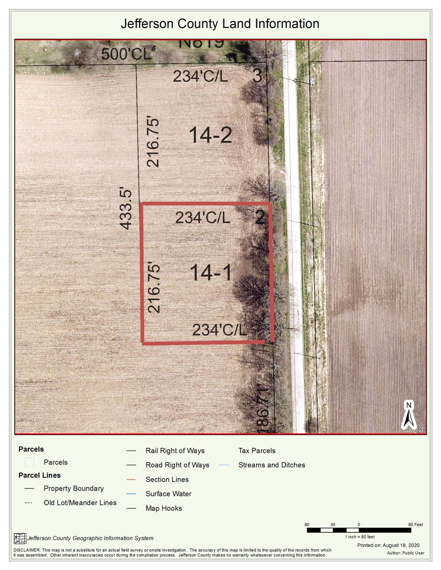 Lt1 Howard Rd, Cold Spring, Wisconsin 53190, ,Vacant Land,For Sale,Howard Rd,1705237