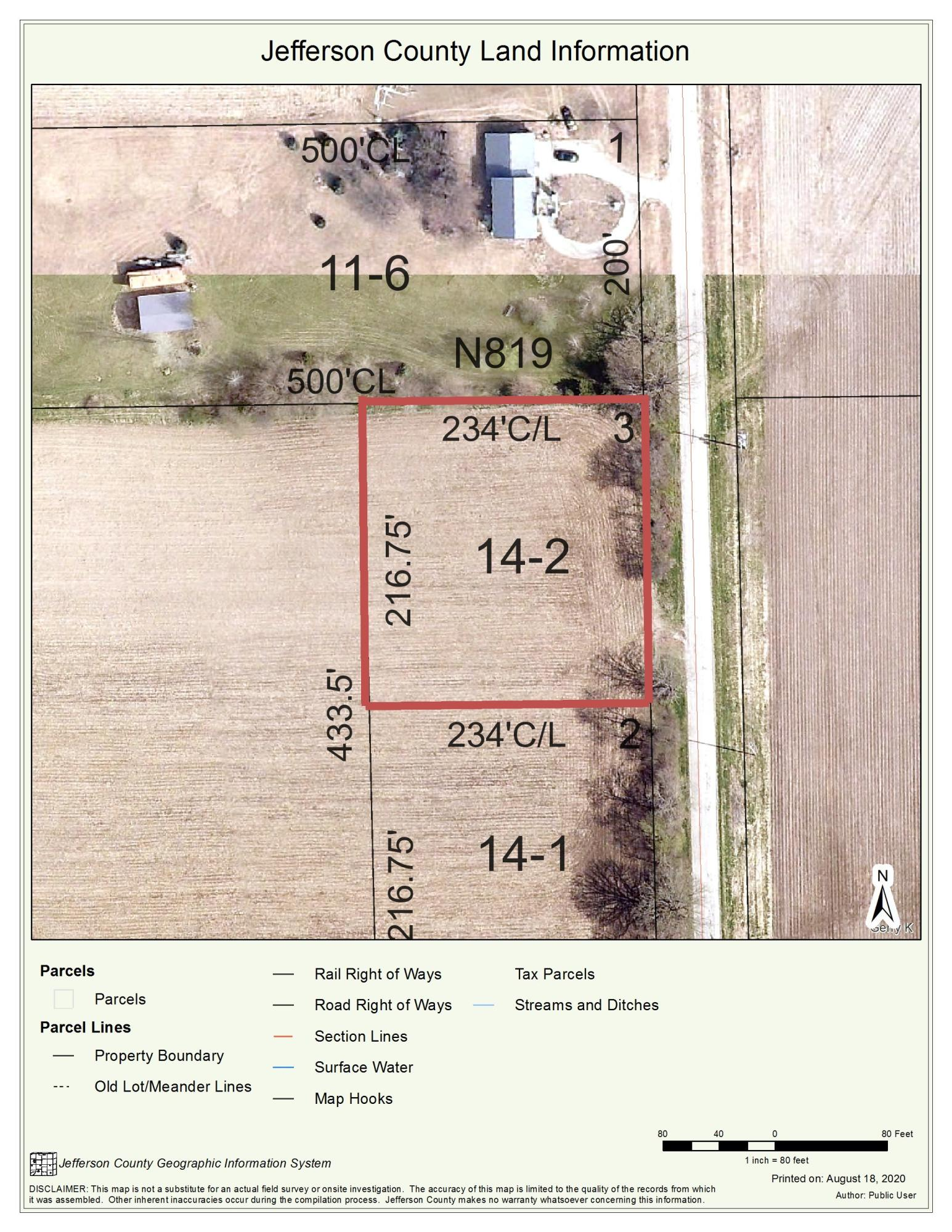 Lt2 Howard Rd, Cold Spring, Wisconsin 53190, ,Vacant Land,For Sale,Howard Rd,1705250