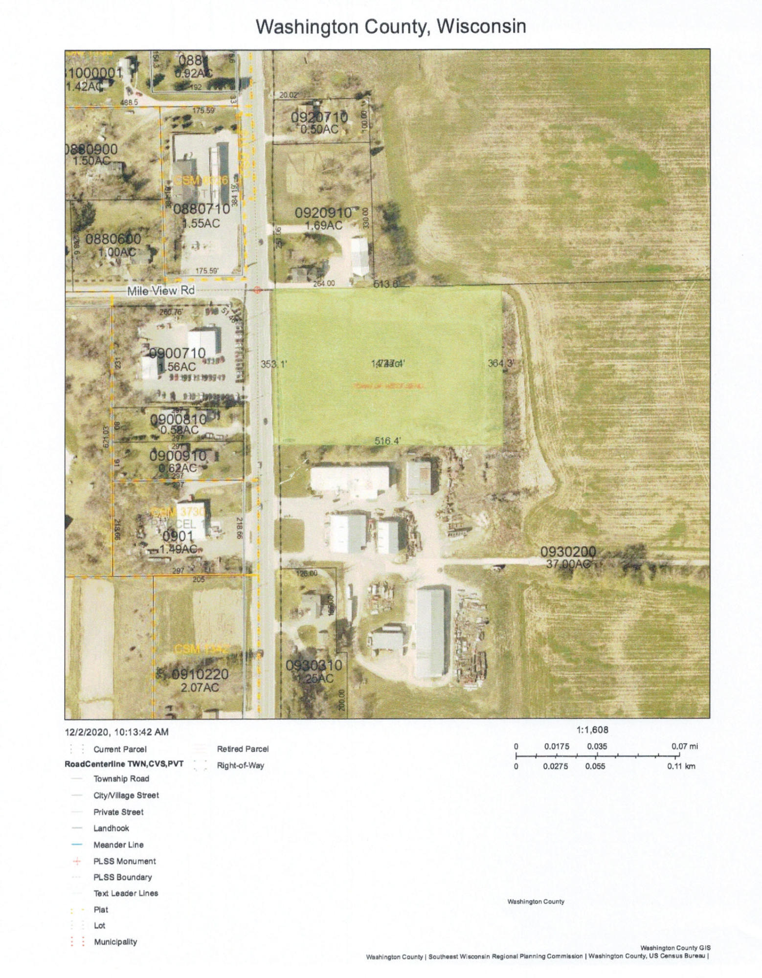 Property for sale at Lt00 County Road P, West Bend,  Wisconsin 53095