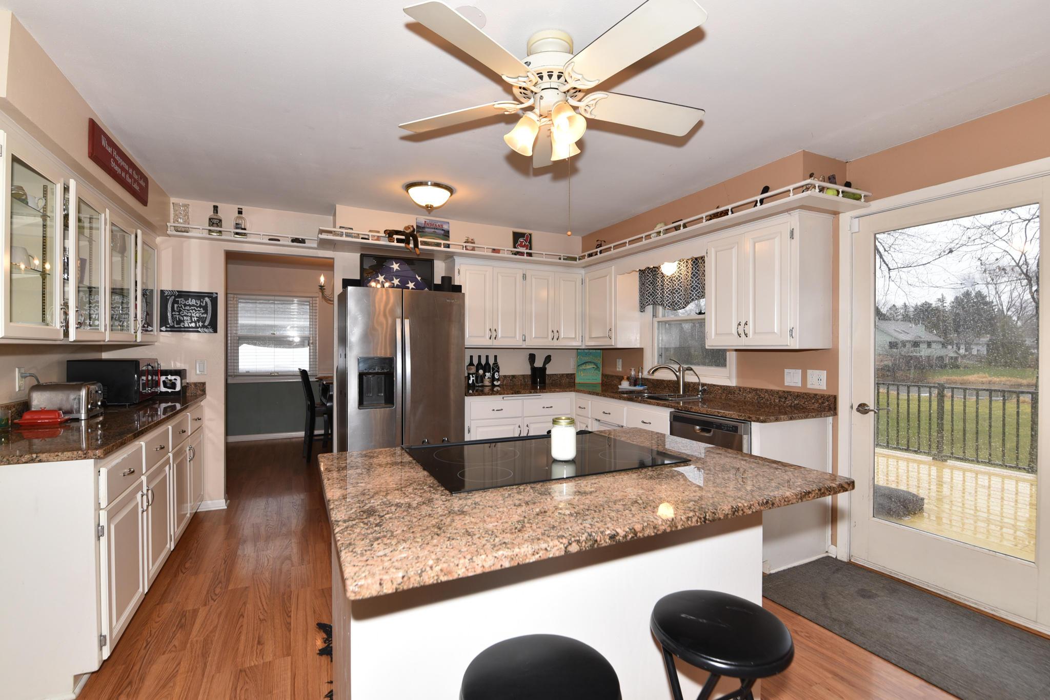 Kitchen open to deck