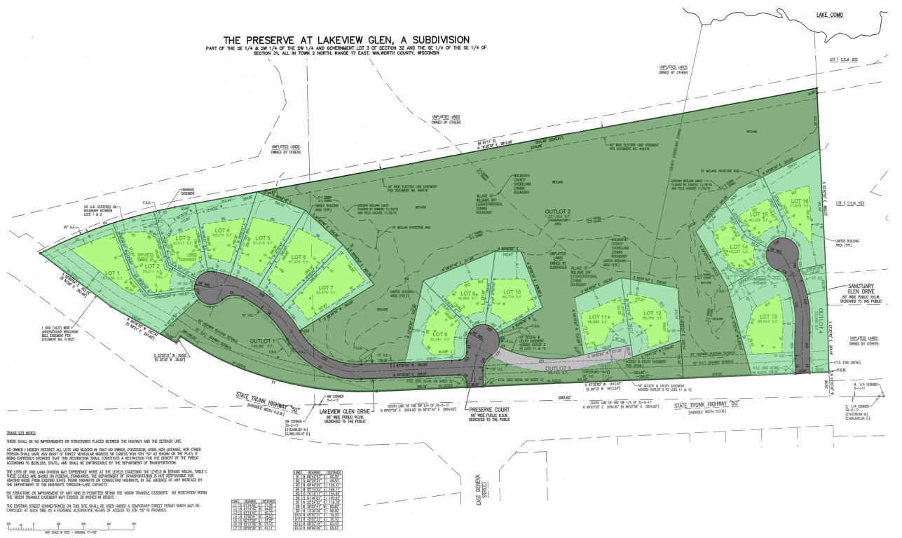 Map of the Preserve at Lakeview Glen
