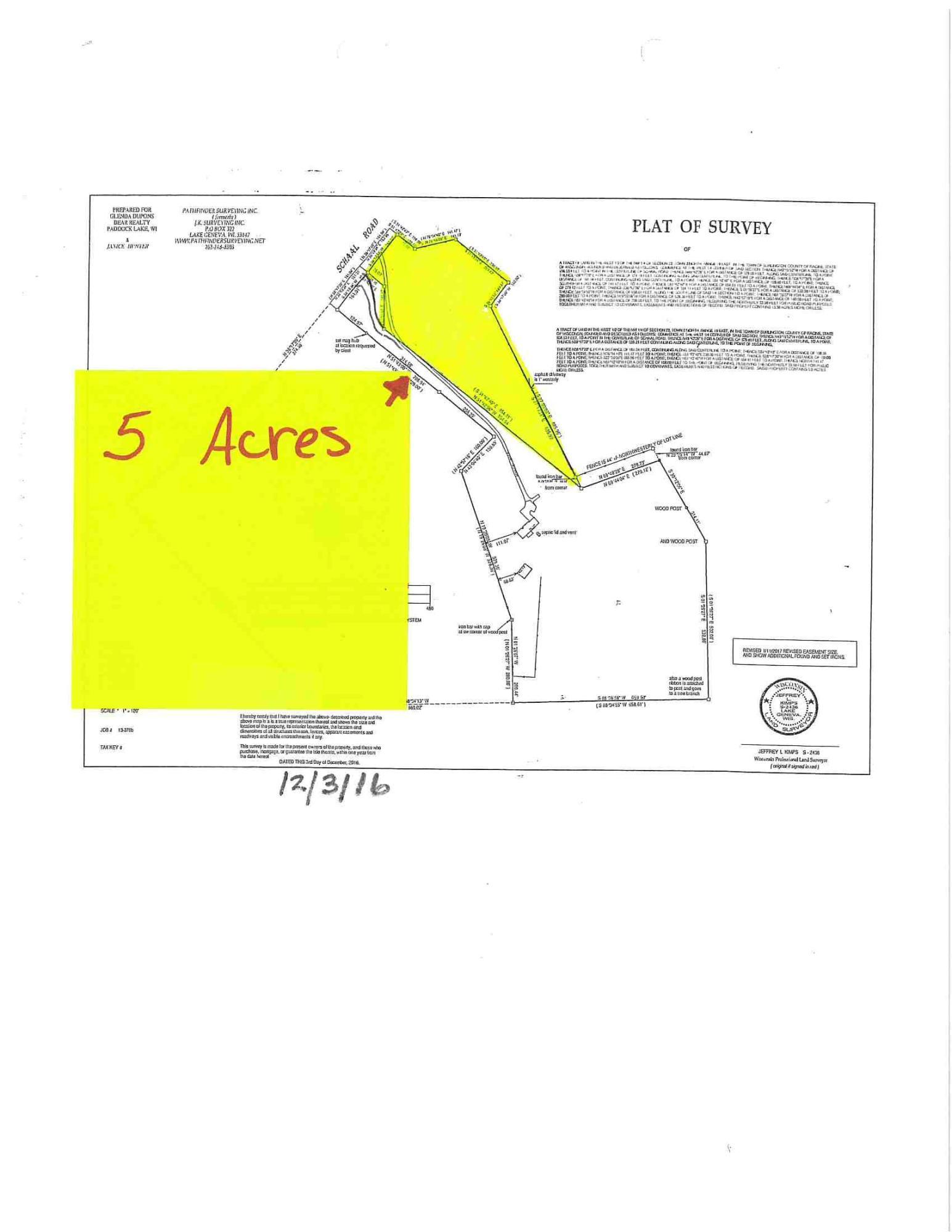 Lt0 Schaal Rd, Burlington, Wisconsin 53105, ,Vacant Land,For Sale,Schaal Rd,1722048