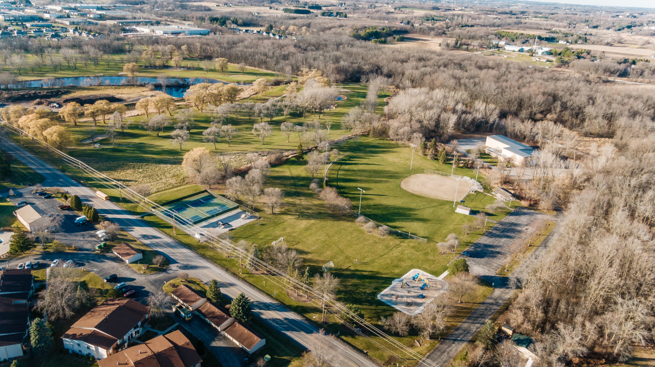 Aerial of Golf Course & Park