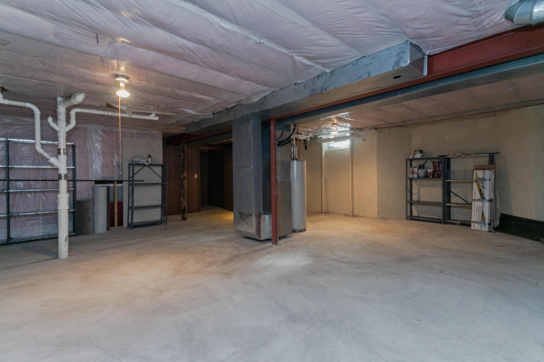 Storage area in basement
