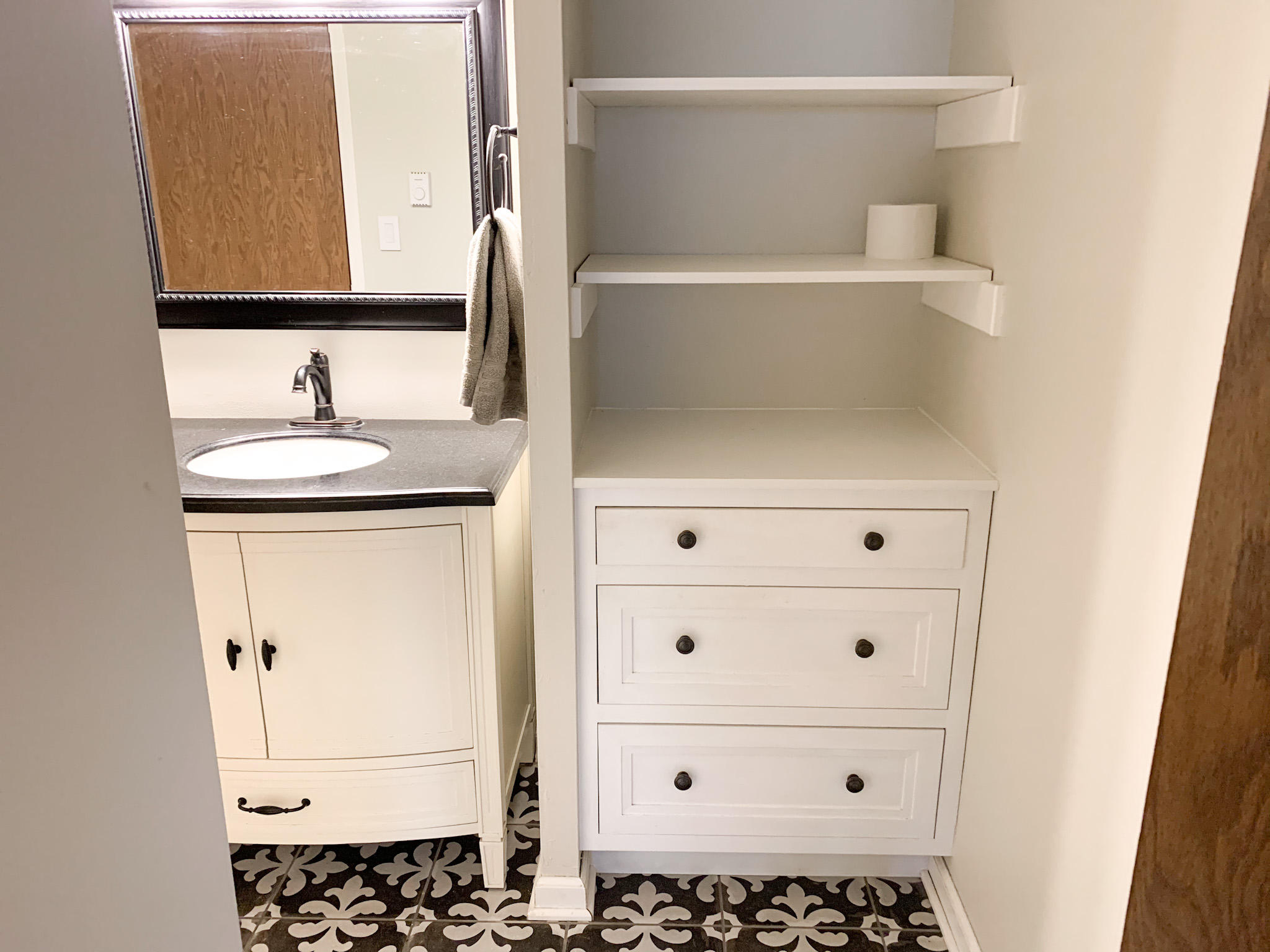 Custom Built in Cabinets in master bath