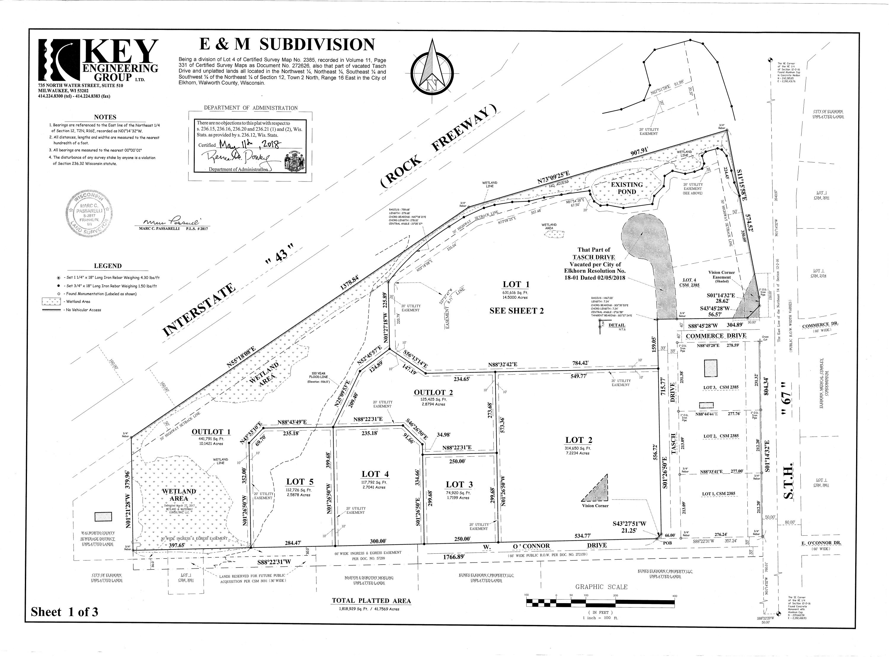Lt3 O'Connor Dr, Elkhorn, Wisconsin 53121, ,Vacant Land,For Sale,O'Connor Dr,1723004