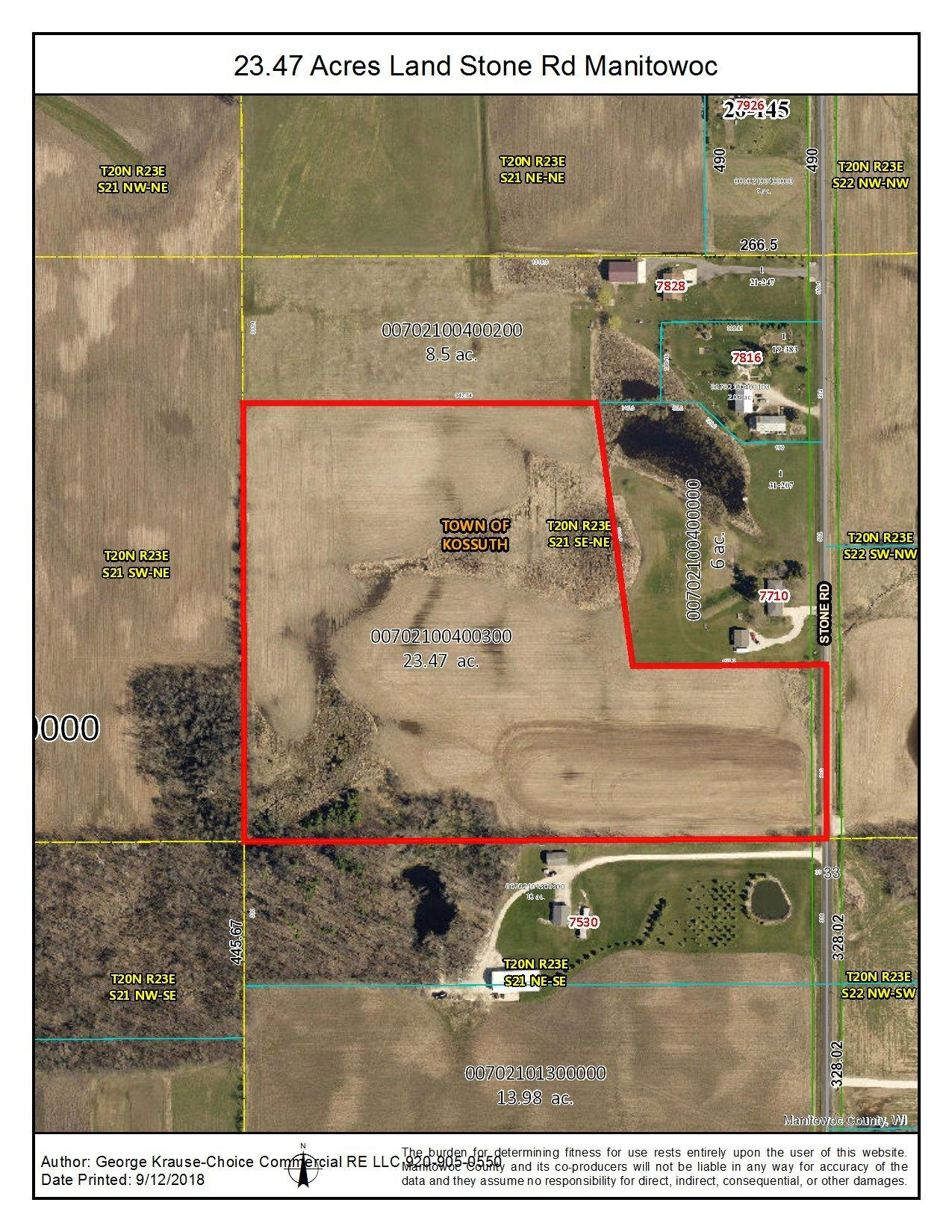 Pcl 2 Stone Rd, Kossuth, Wisconsin 54220, ,Vacant Land,For Sale,Stone Rd,1723025