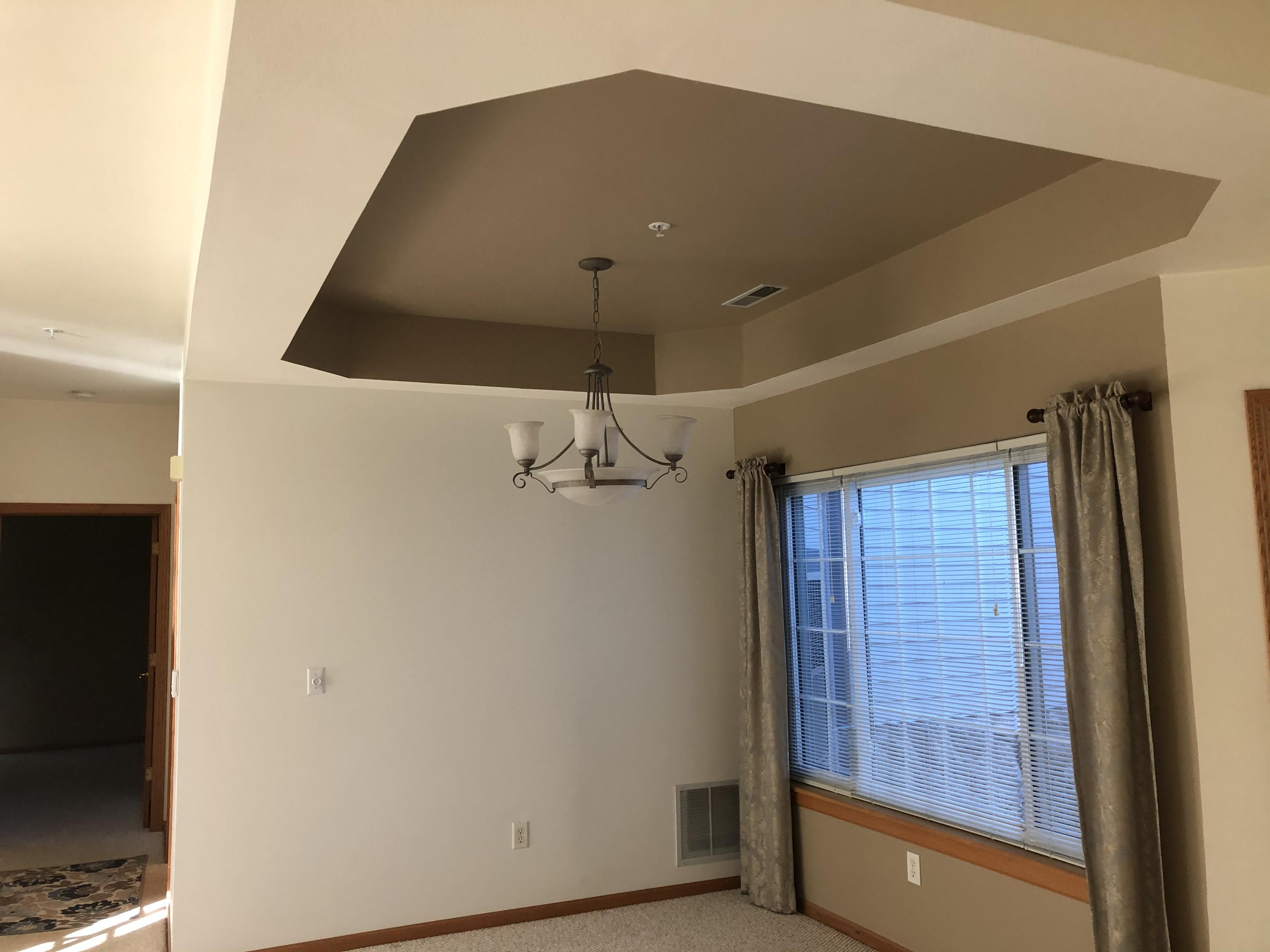 Dining room coved ceiling