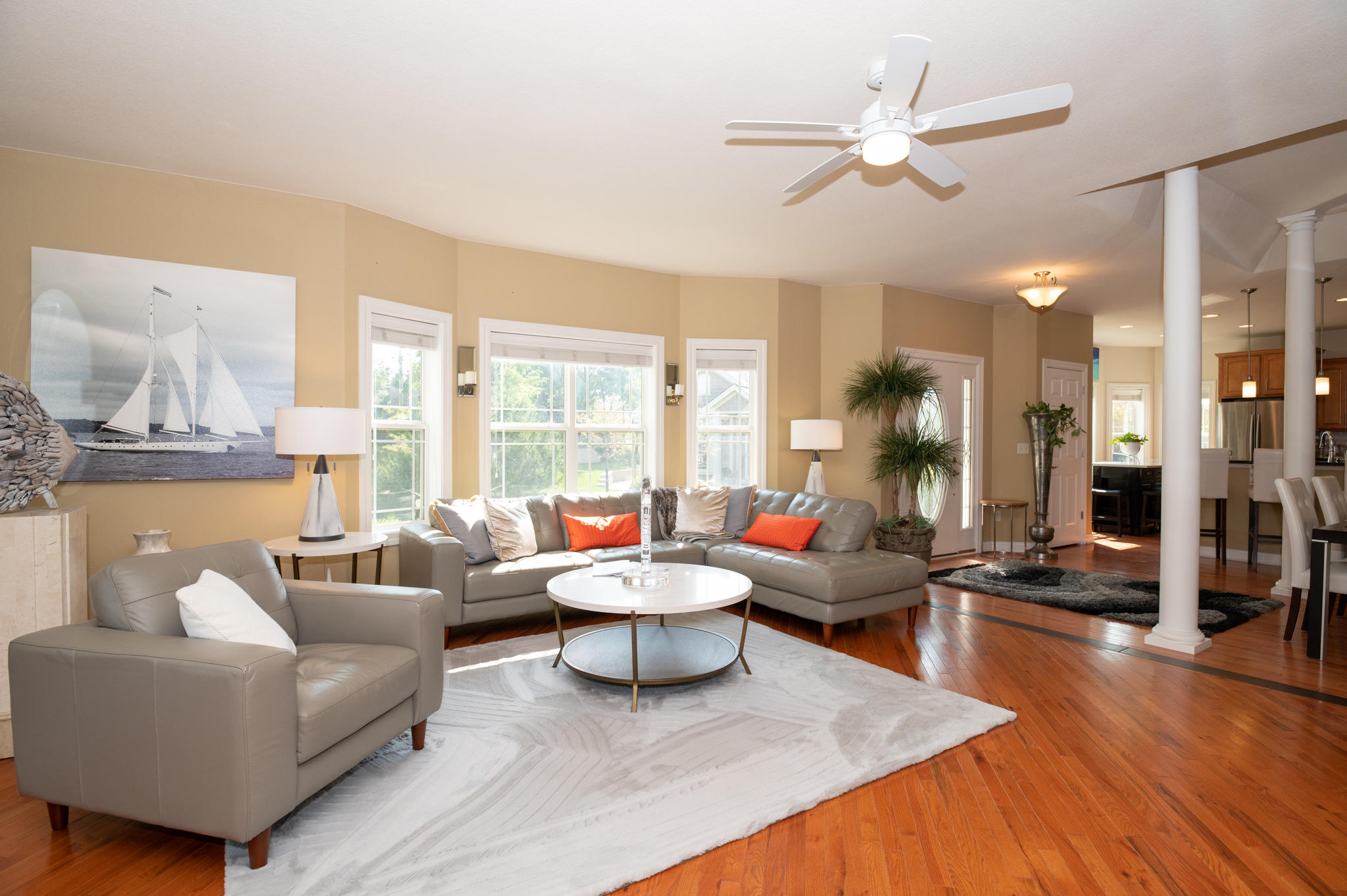 Open concept with HWF