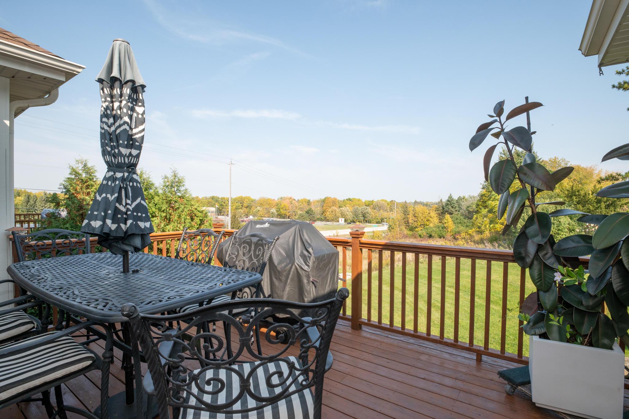 Large beautiful deck