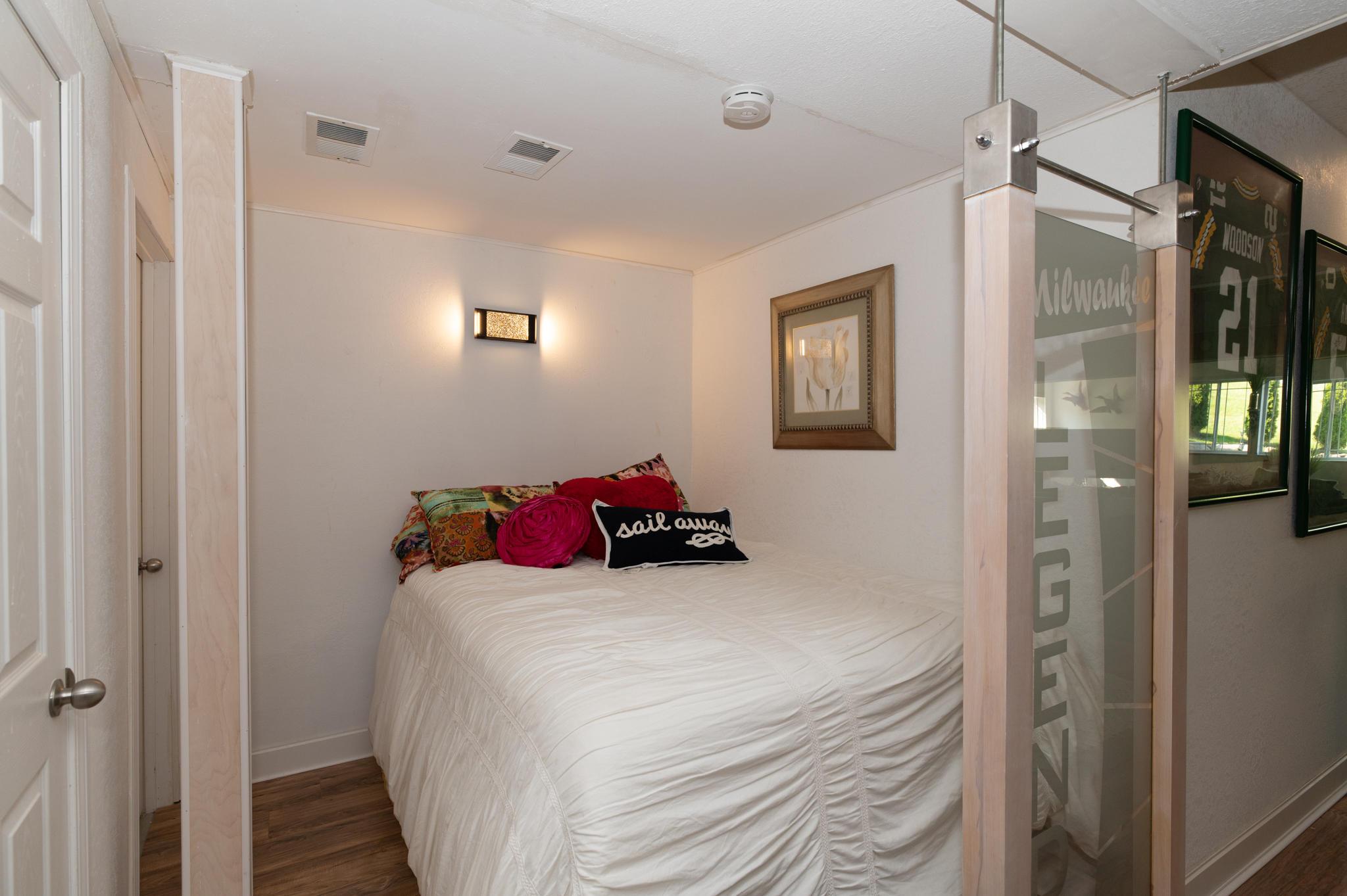 Separate bedroom space