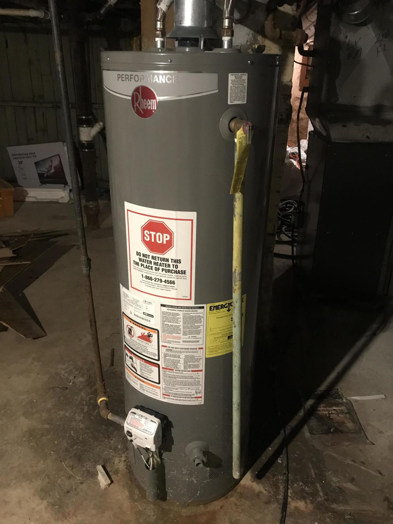 New Hot Water Heater