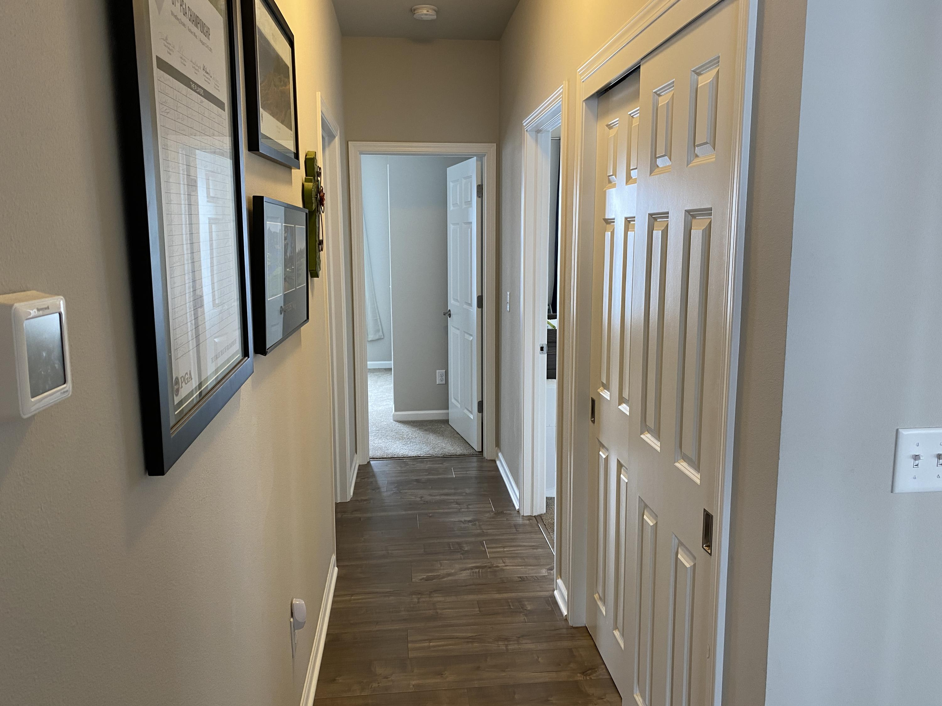 hall way to bedrooms