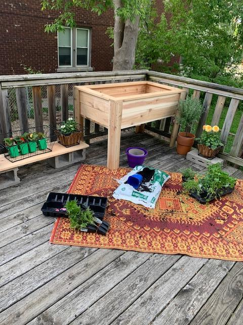 Photo of deck shared by tenant