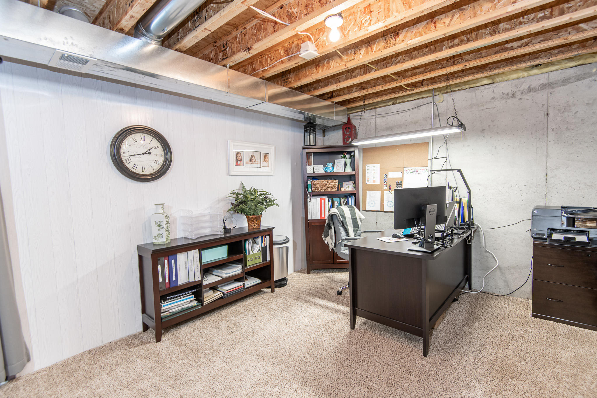 Office Area in Basement