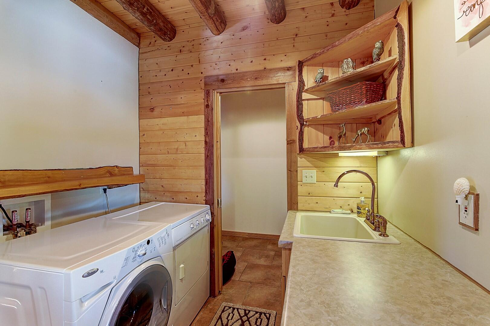 Main Floor Laundry w/ two Pantries