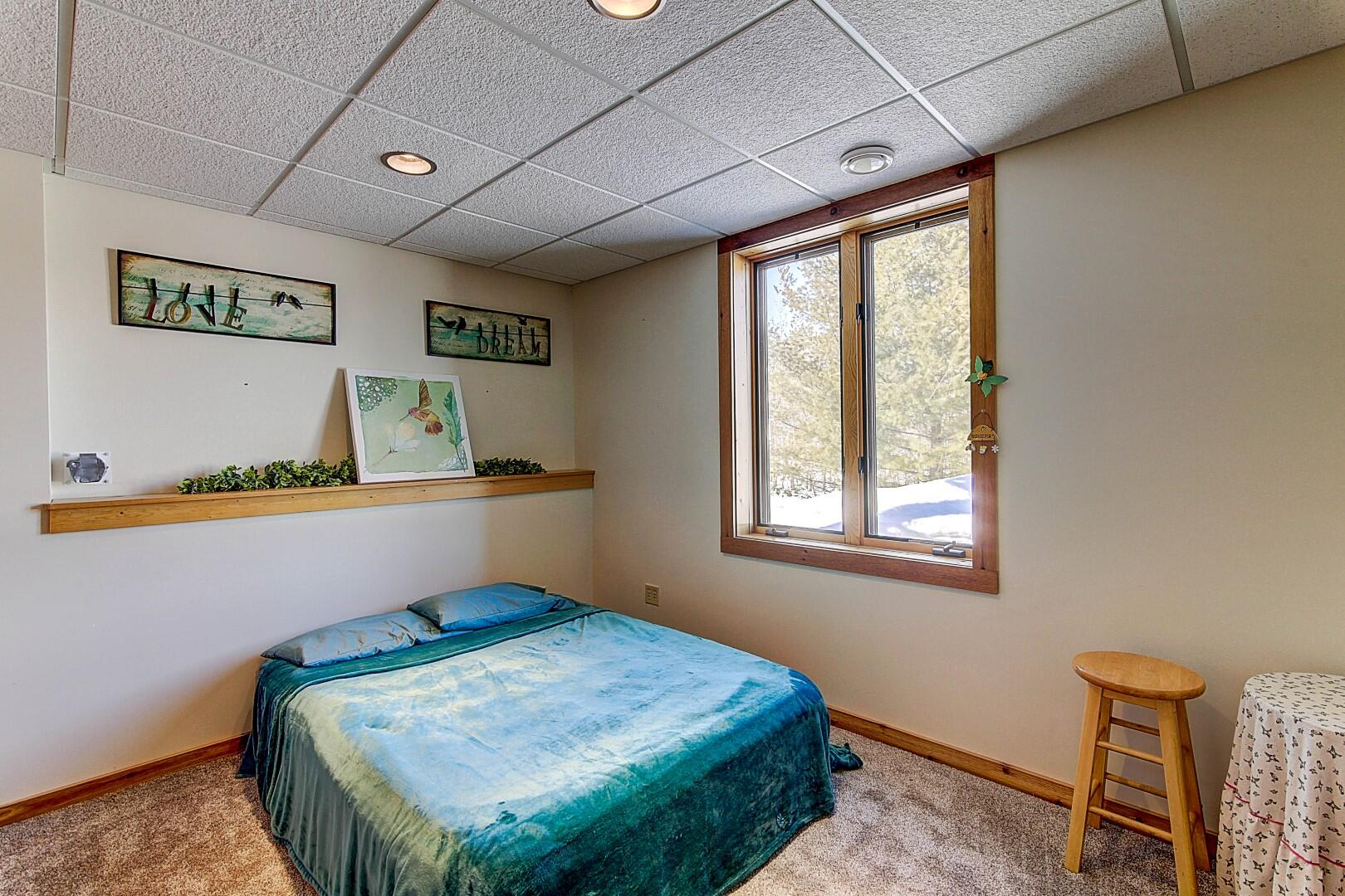 Lower Level 4th Bedroom (New Carpet)