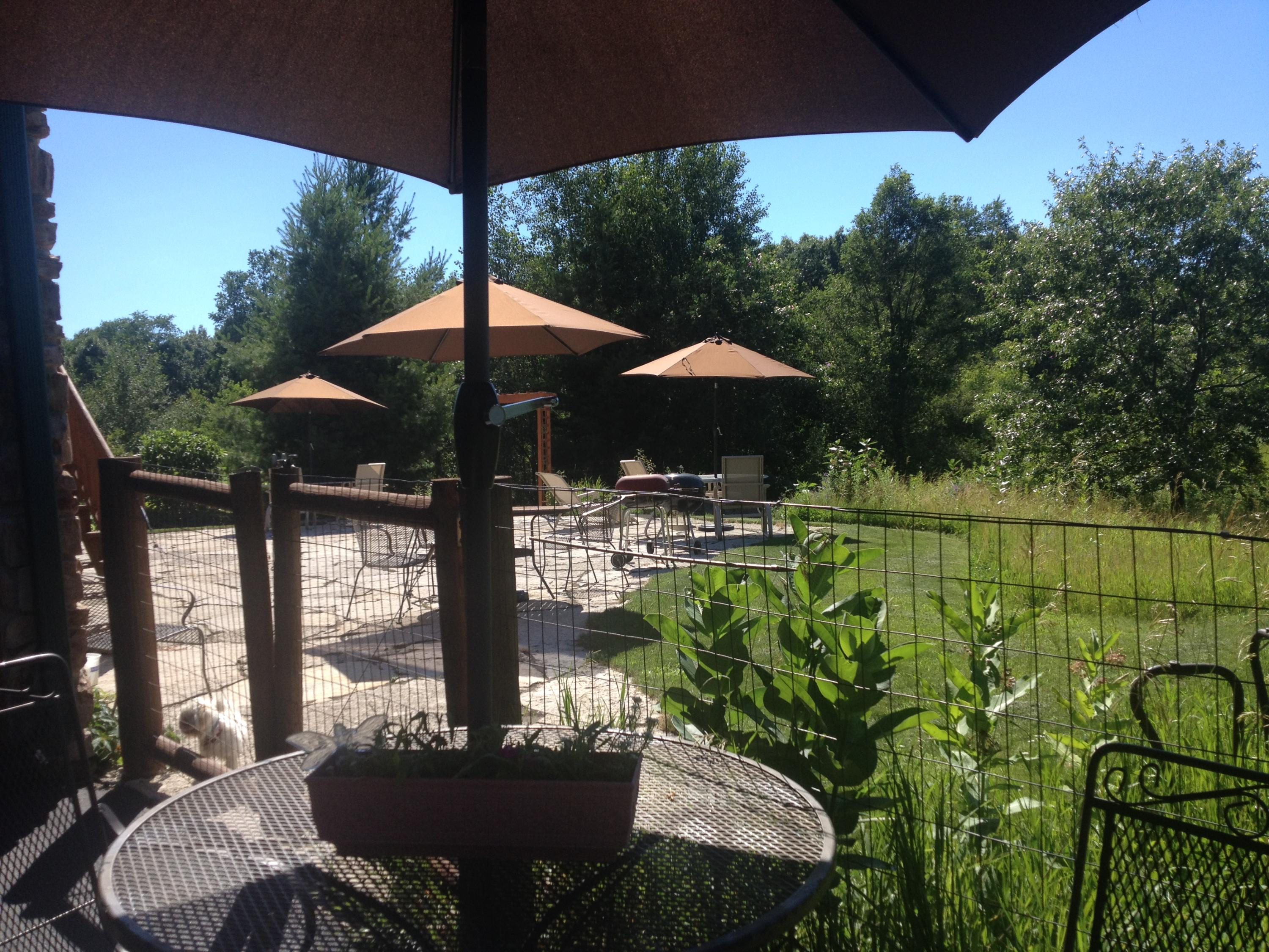 Upper of 2 Levels of Flagstone Patios