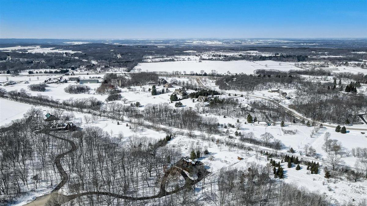 Aerial Looking West to Old World WI