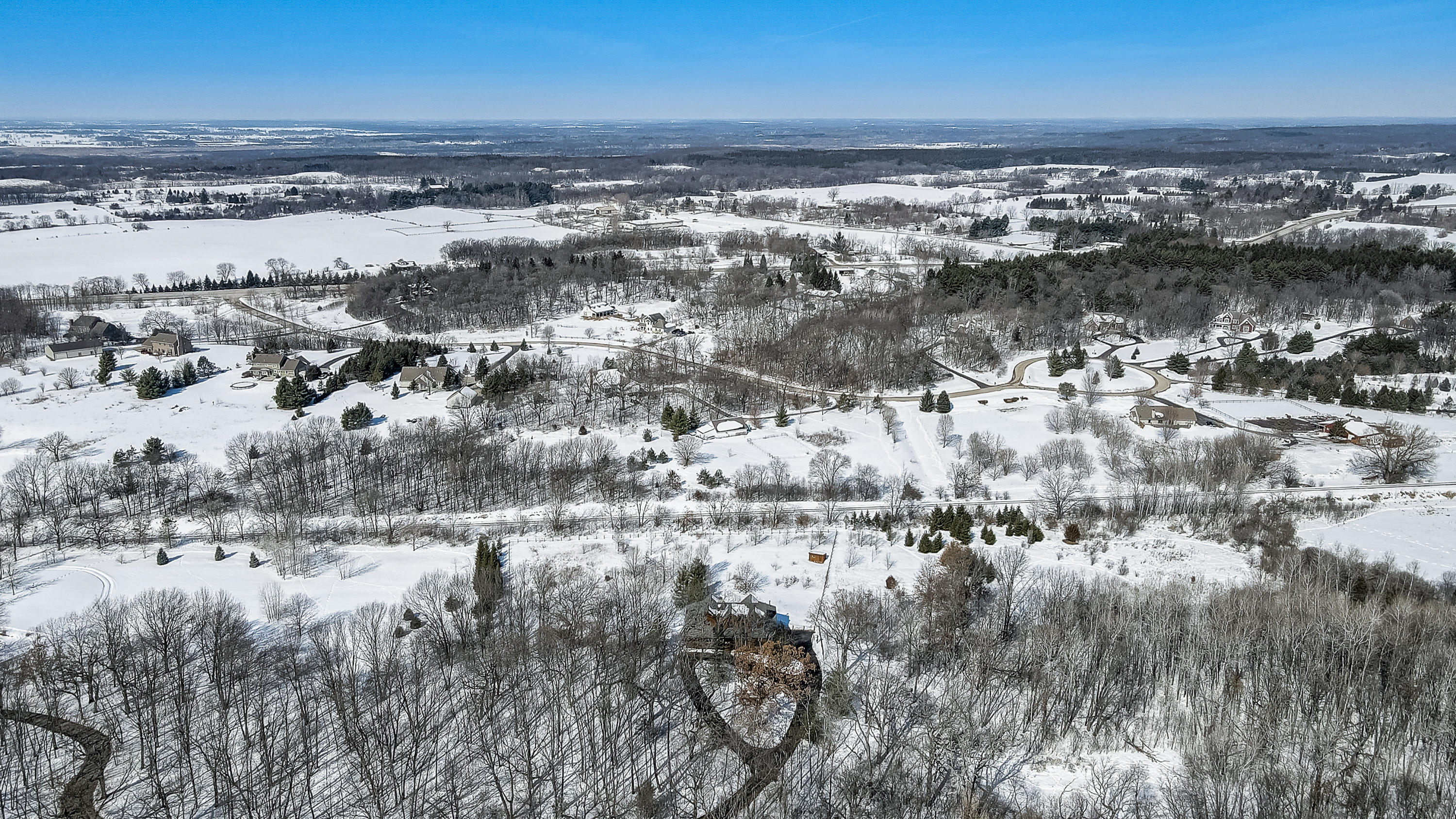 View North to Kettle Moraine Forest