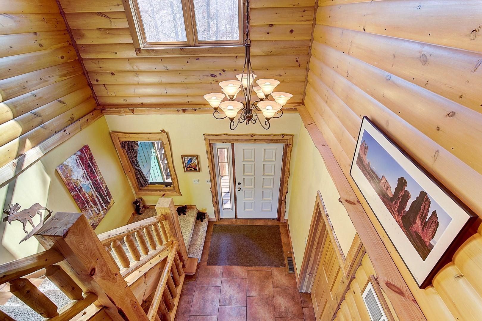2-Story Foyer & Stairs to Upper Level