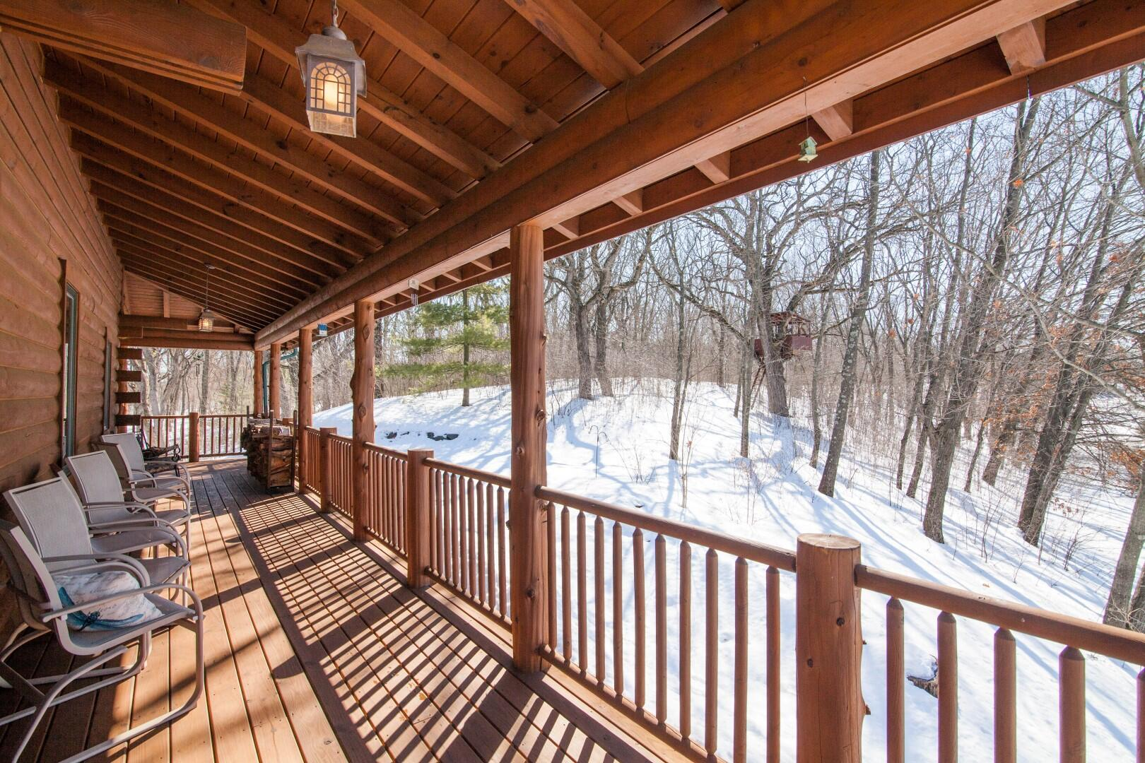 Covered Porch w/ View of Tree Fort