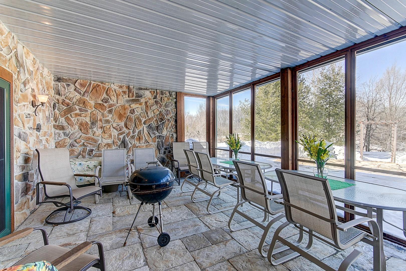 Lower Screened-in Porch off Rec Room