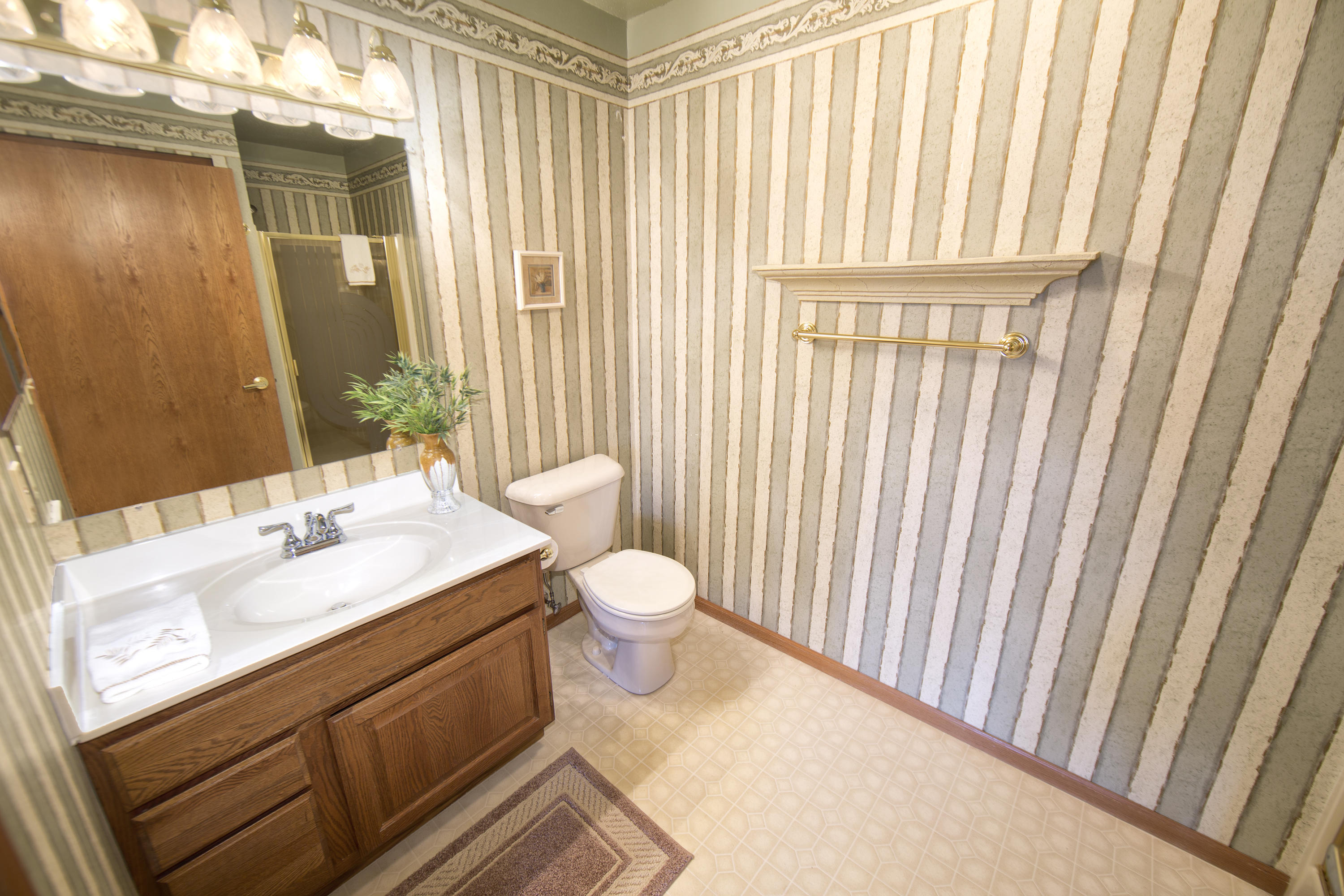 Full Bath with Shower Stall