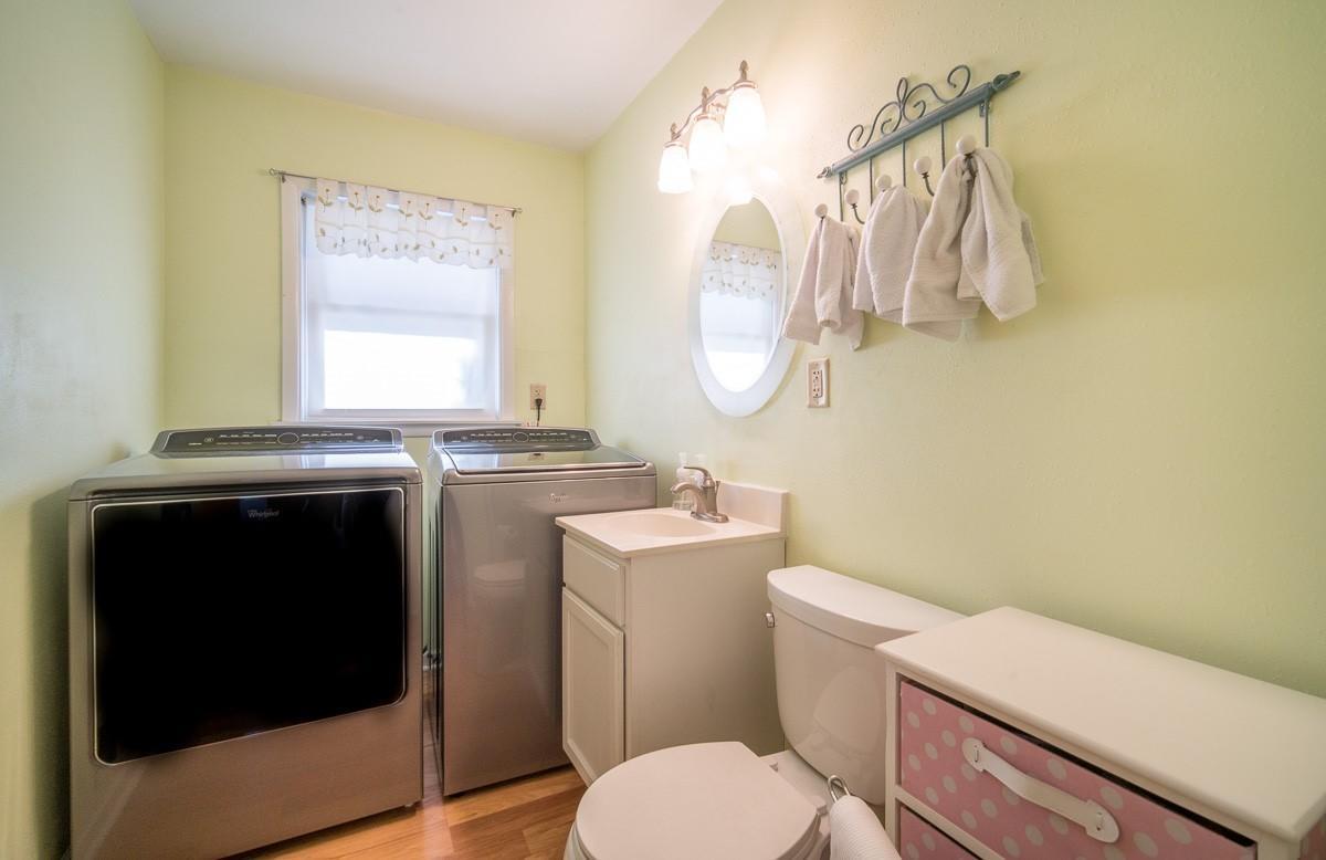 1/2 bath/first floor laundry
