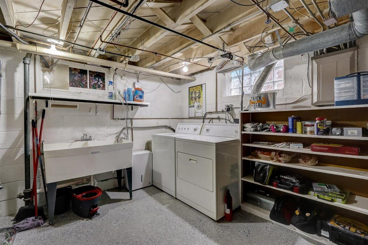 Epoxy Floor in Lower Level Laundry