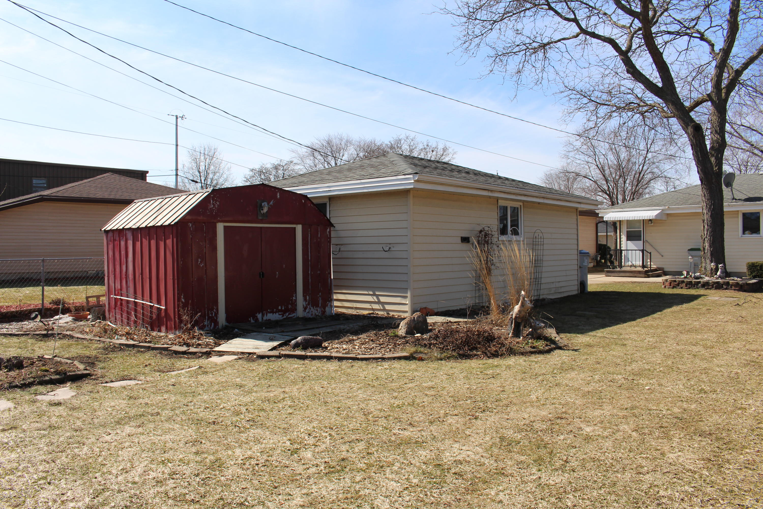 Utility Shed Included