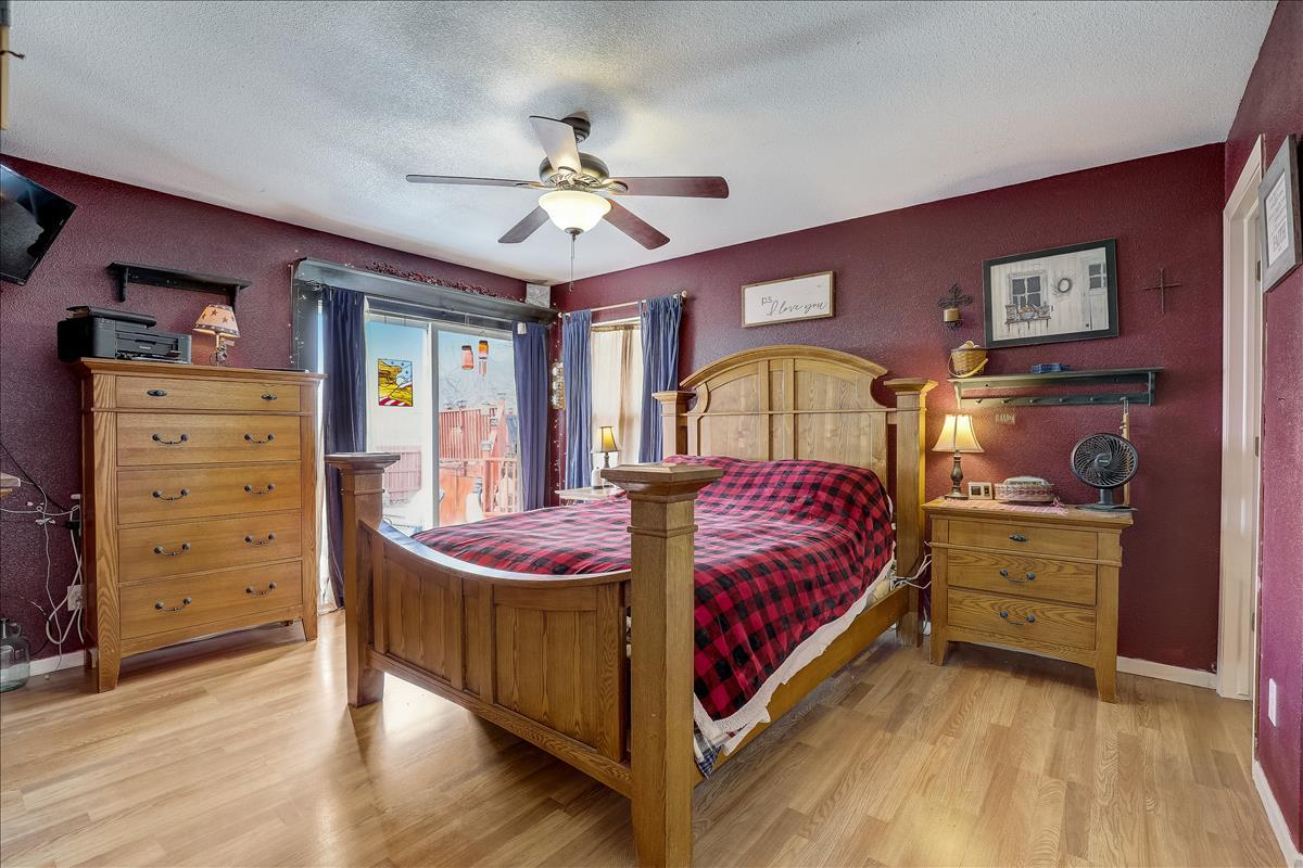 Large Master Bedroom with Patio Doors