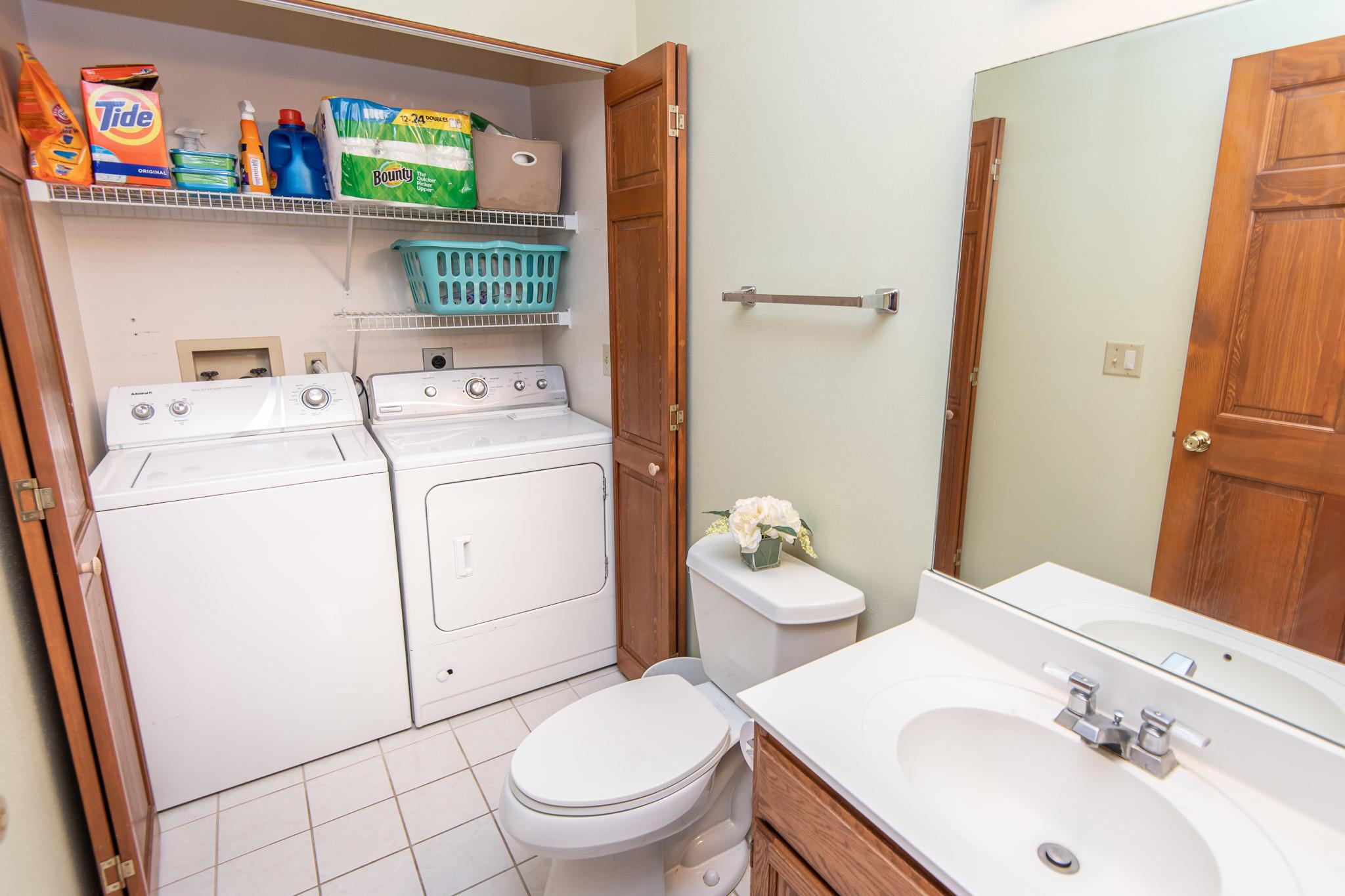 Main Bath and Laundry