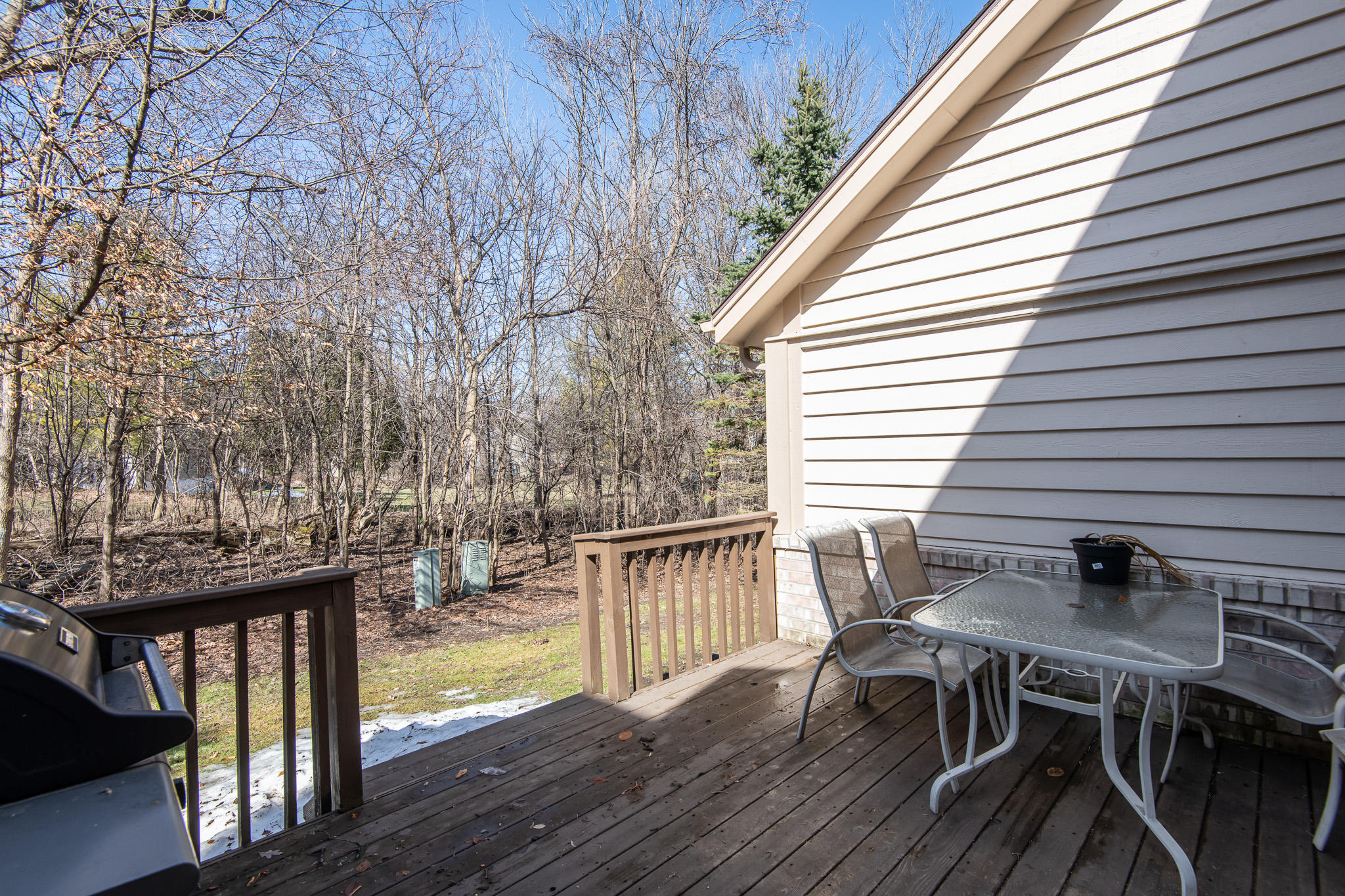 Private Wooded Deck