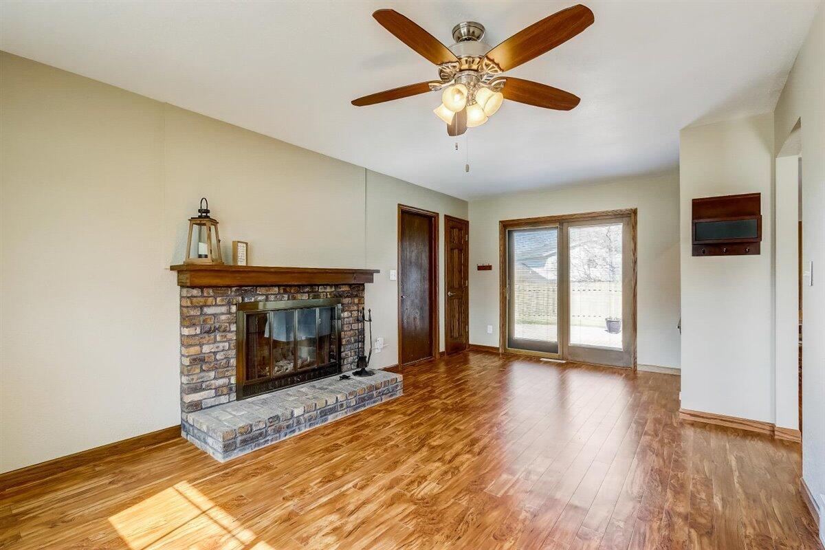 Living Room with patio door to backyard