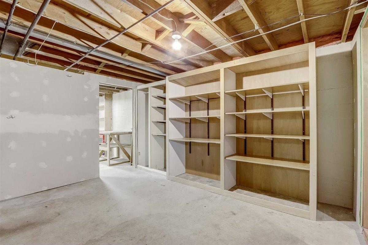 Basement Built In Storage